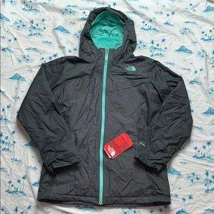 North Face Girls Osalita Triclimate Jacket Gray